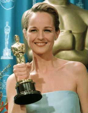 Another of her holding her Oscar