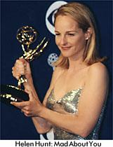 Holding her Emmy, 1997