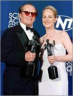 With Jack, holding their SAG awards